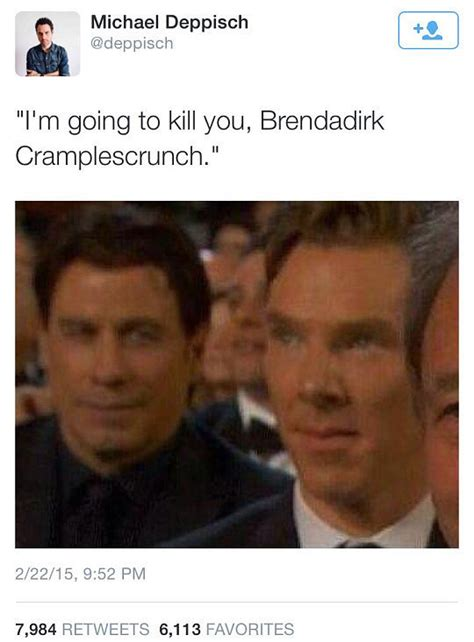 John Travolta Meme - john travolta and benedict cumberbatch meme from 2015