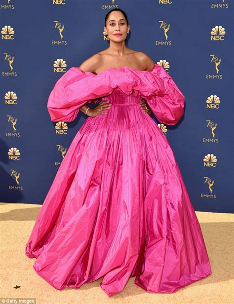 tracee ellis ross pink dress tracee ellis ross oozes glamour in pink gown as she is