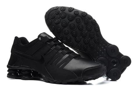 nike shox tennis shoes s nike shox current all black leather tennis shoe