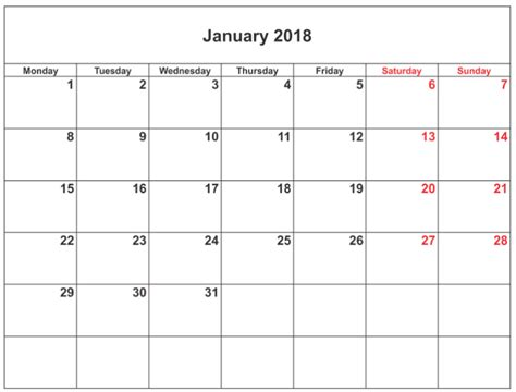 january 2018 calendar template editable january 2018 calendar editable calendar template letter