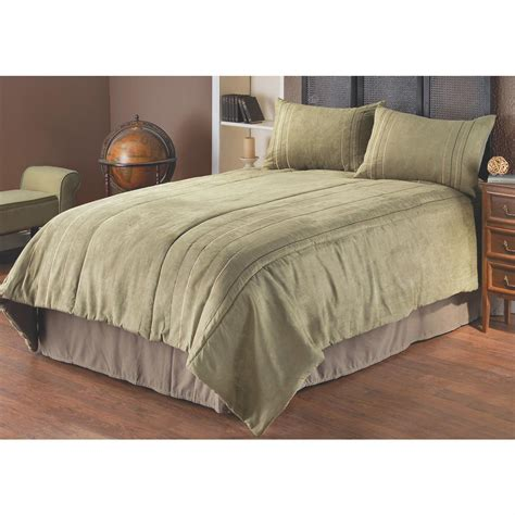 suede bedding rejuvenate ultra suede comforter set 148666 comforters