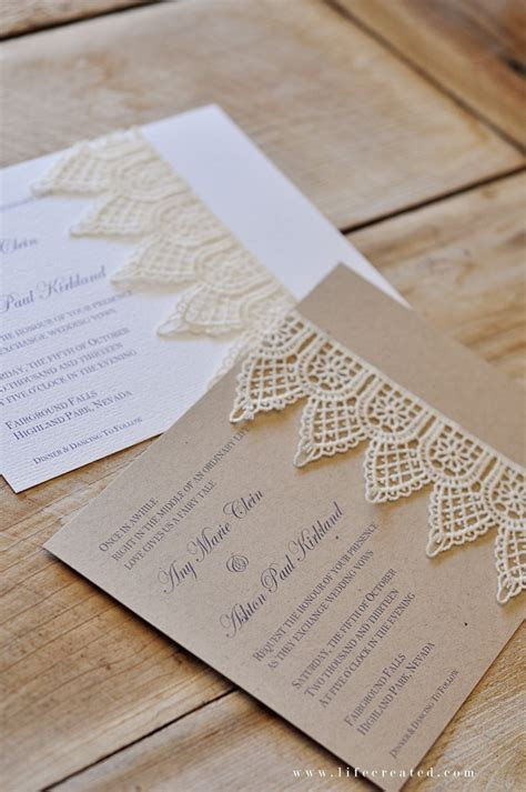 Handmade Lace Wedding Invitations - handmade wedding invitations on pocket wedding