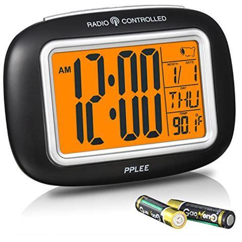 clock radios radio controlled atomic lcd digital alarm with calendar indoor 717630684783 ebay