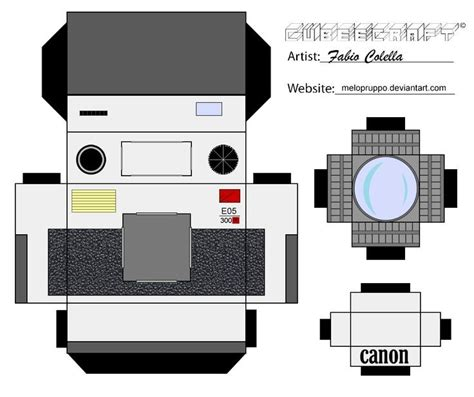 Canon Papercraft - canon cubeecraft by melopruppo deviantart on