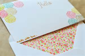 clumsy chic how to d i y personalized stationery