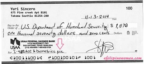 I485 Background Check Write A Check For A Money Order