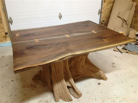 Industrial Style Kitchen Island by Hand Made Live Edge Black Walnut Dining Room Table By Bois