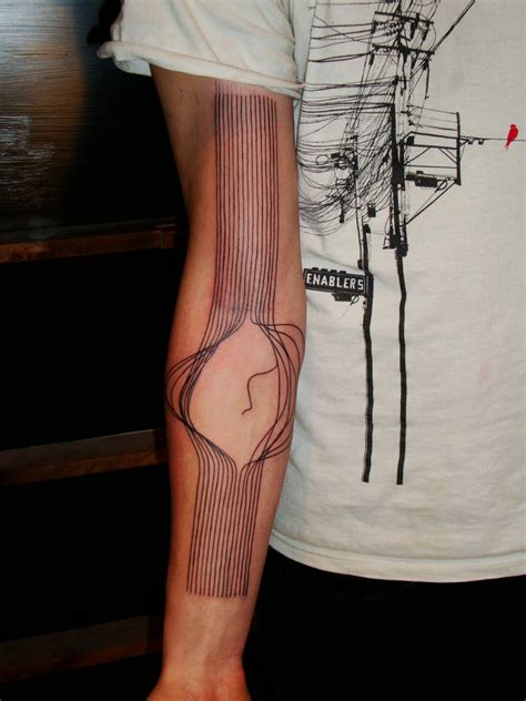 tattoo 3d lines broken lines best tattoo design ideas