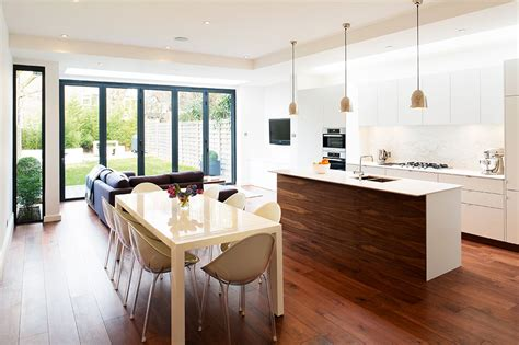 Kitchen Diner Extension Ideas Open Plan Kitchen Diner With Central Island Dining Open Plan Kitchen Diner Open
