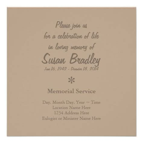 invitation letter to burial ceremony invitation for funeral ceremony sarahepps