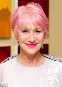 rare hair cuts dame helen mirren returns to her natural hair colour as