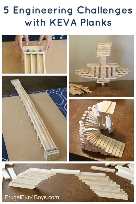 engineering challenges  keva planks frugal fun  boys  girls