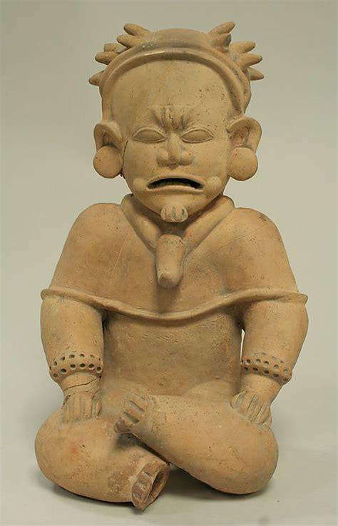 preceramico culturas ceramic seated male date 5th century bce 4th century ce geography ecuador culture bahia