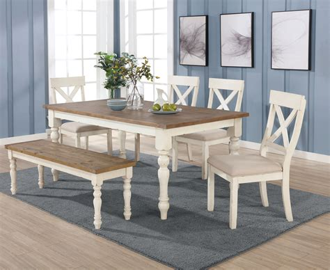 prato  piece dining table set  cross  chairs