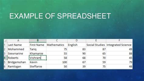 Simple Spreadsheet Program by Spreadsheet Software