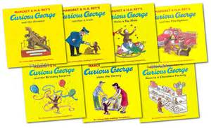 curious george monkey collection margret rey 7 book gift pack series ebay