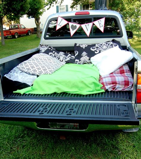 truck bed date stay crafty my friends backyard drive in date night