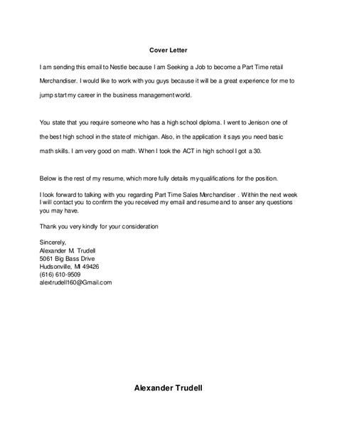 nestle cover letter resume