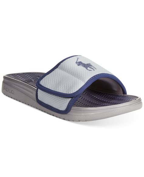 mens polo sandals polo ralph romsey sandals in blue for lyst