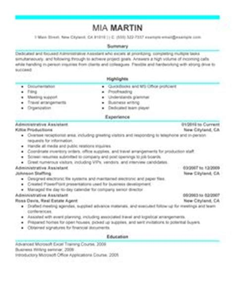 Resume Examples For Clerical Positions by Best Administrative Assistant Resume Example Livecareer