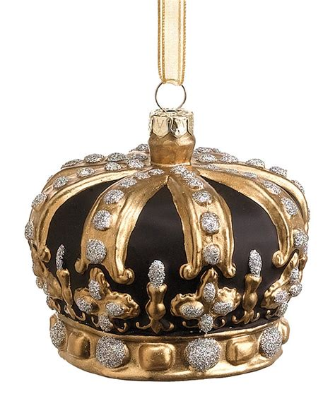 crown ornaments gold black crown ornament