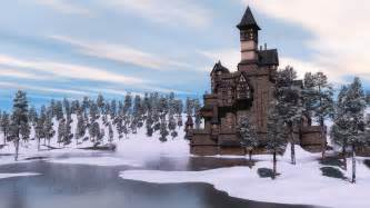 Screen savers wallpapers explore castle winter