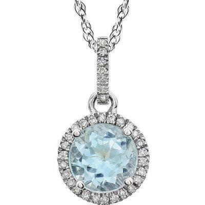 Topaz Gift Card Balance - 14k white gold sky blue topaz pendant