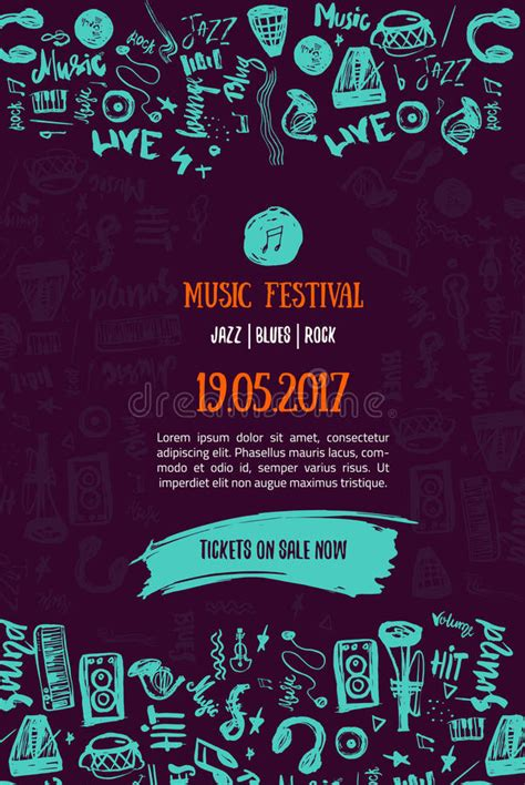 music concert background festival modern flyer vector