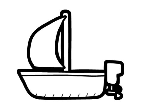 barcos para pintar on line dibuix de llanxa amb vela per pintar on line dibuixos cat
