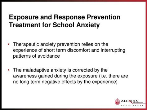 exposure therapy for treating anxiety in children and adolescents a comprehensive guide books ppt school anxiety school refusal in the school setting