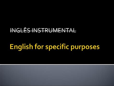 Eanglish For Special Purposes for specific purposes 1