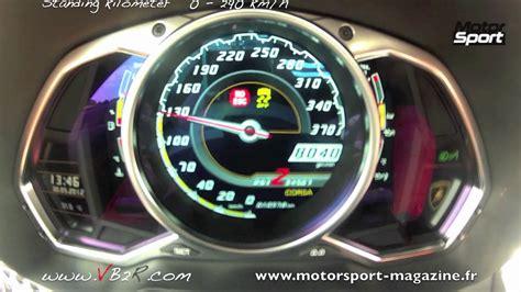 Acceleration lamborghini Aventador 0 290 km/h LP 700 4