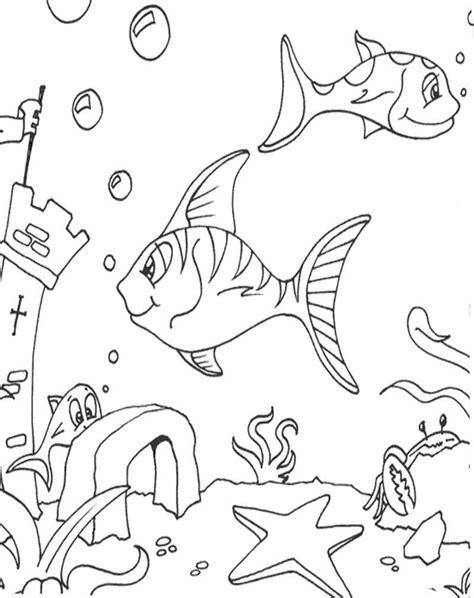 Contoh Gambar Mewarnai Kolam Ikan - KataUcap