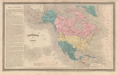 map of america circa 1830 19th century a h dufour map of quot amerique du nord quot