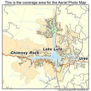 aerial photography map of lake lure nc carolina