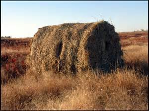 Hay Bale Hunting Blind Homemade Blinds
