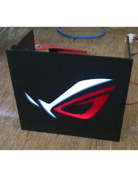 Dvdrw 525 Slot Cover With Logo jual asus rog logo front panel 3 x 5 25 led cover