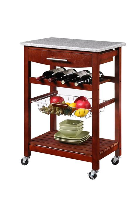 kitchen island cart granite top wenge finish granite top kitchen island cart