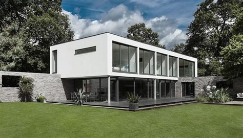 new home design studio contemporary house with moat on the south coast of england