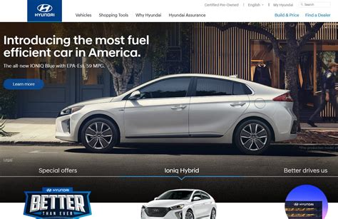 hyundaiusa the official hyundai website in us