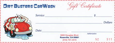 car wash gift card template gift certificates dirt busters granite bay