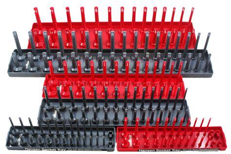 6 piece socket drawer organizers hansen global 92000 6 pack 1 4 quot 3 8 quot 1 2 quot sae metric