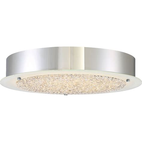 Flush Mounted Ceiling Light Fixtures Quoizel Pcbz1616c Platinum Collection Blaze Modern Polished Chrome Led 16 Quot Flush Mount Ceiling