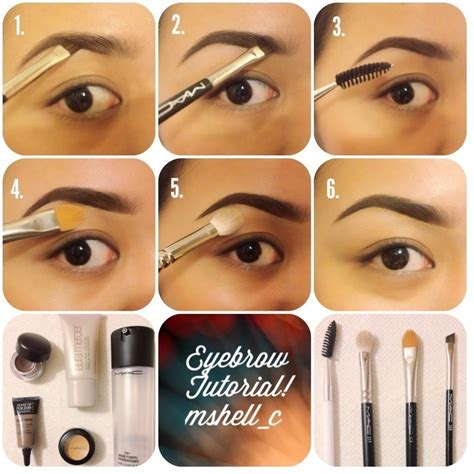 tutorial makeup eyebrow makeup by shell c the perfect updated eyebrow tutorial