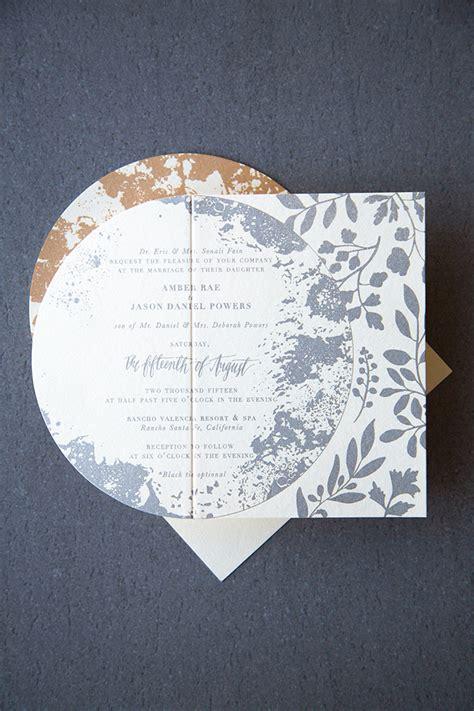 pretty moon wedding invitations shimmery metallic moon and wedding invitations