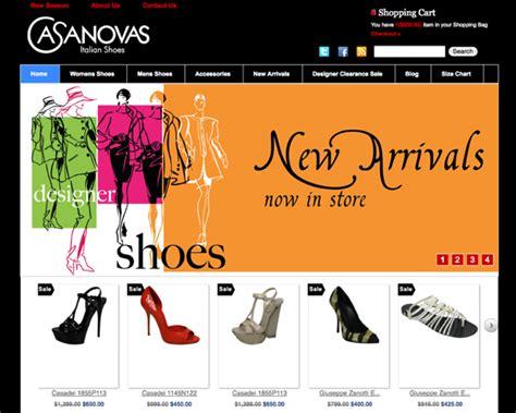 design online shoes casanovas italian shoes sydney ecommerce website design