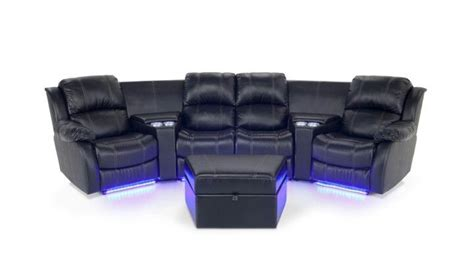 couch caddy cup holder cineplex couch with blue led lights lit cup holders
