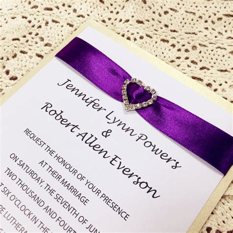 Purple And Orange Wedding Invitation Kits