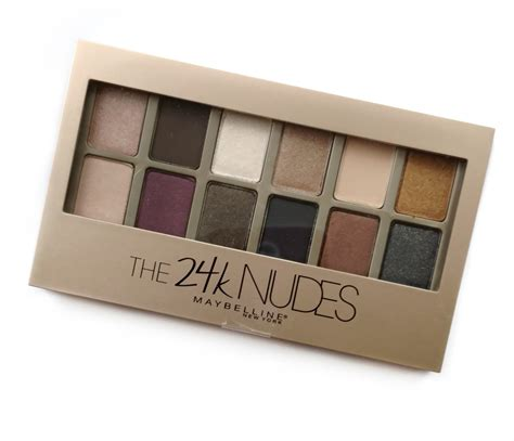 Maybelline Palette maybelline the 24k palette review swatches the