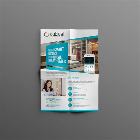 Home Automation Brochure Design Homemade Ftempo Phlet Template